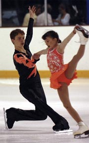 Vickie and Peter Pairs figure skating
